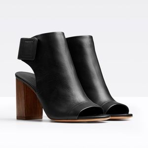 Vince Peep Toe Booties